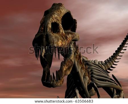 Digital visualization of a T Rex