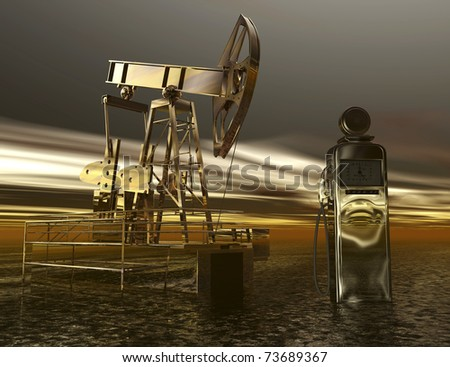 Digital visualization of oil production
