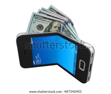 Digital Wallet Concept. 3D rendering