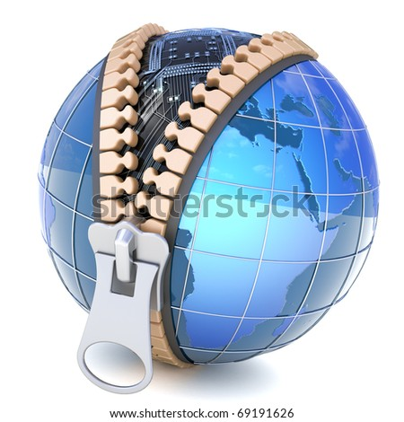 Digital world - stock photo