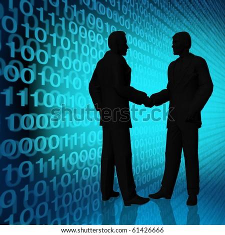 digital world agreement with binary code