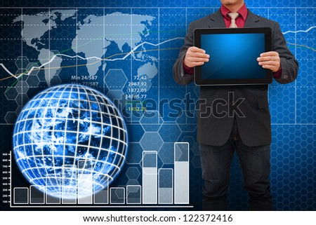 Digital world and Technology data : Elements of this image furnished by NASA
