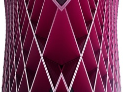 Digitally composed photo of metal grid structures. Modern architecture fragment with geometric pattern. Abstract architectural background in hi-tech style.