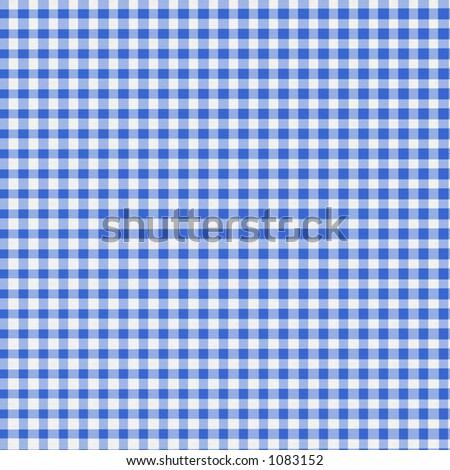 Digitally Created Light Blue Gingham
