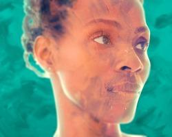 Digitally manipulated unusual creative portrait