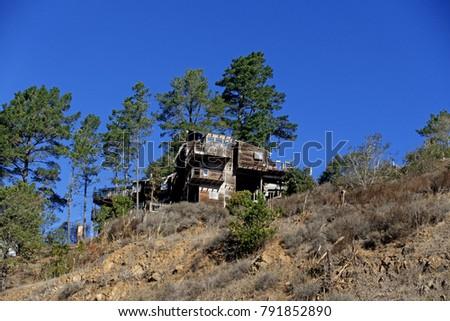 dilapidated  vintage  old cabin ...