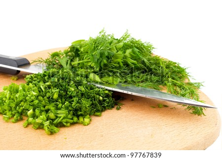 Dill herb cut isolated on white background