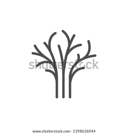 Dill line icon isolated on white