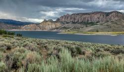 Dillion Pillars at the Blue Mesa Reservoir in Gunnison, Colorado