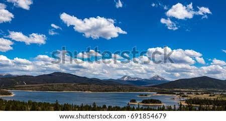 Dillon Reservoir, sometimes referred to as Lake Dillon, is a large fresh water reservoir located in Summit County, Colorado, and is a reservoir for the city of Denver.