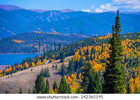 Dillon, Silverthorne Colorado Landscape. Fall in Colorado
