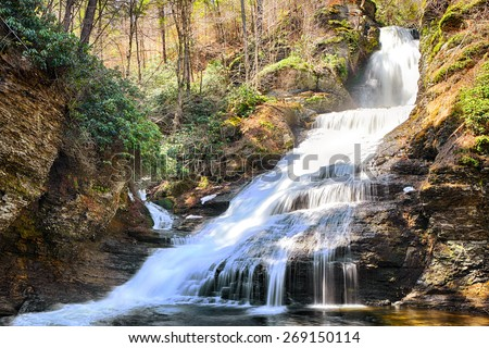 Dingmans Falls is a waterfall located in Dingmans Ferry in Delaware Township