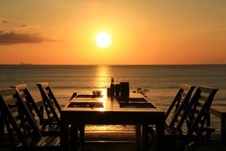 Dining and sunset