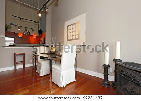 Dining room in Large loft studio