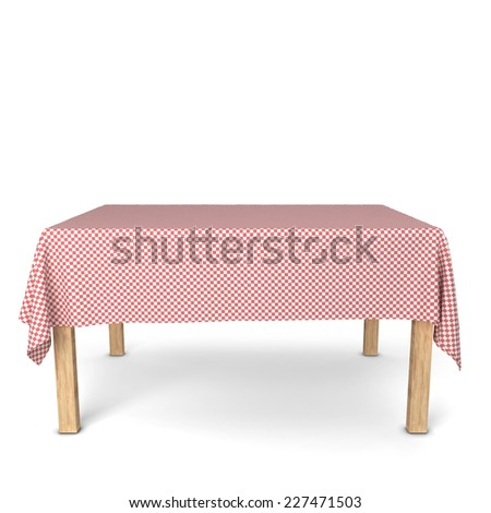 Dining table. 3d illustration isolated on white background