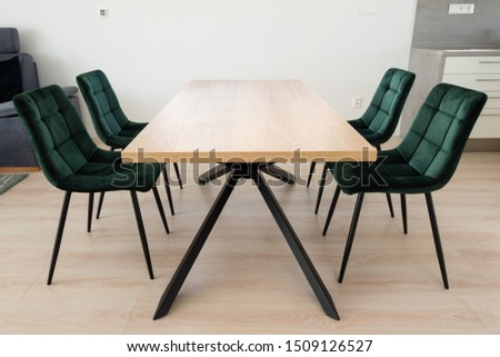 Dining table in contemporary house #1509126527