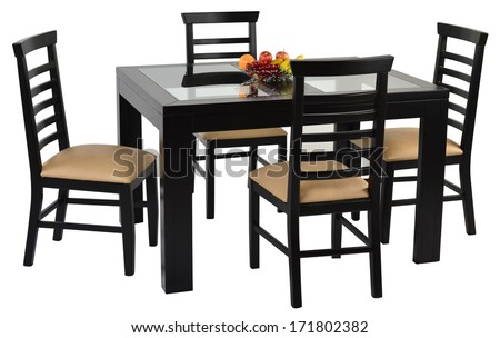 Dining table. Isolated #171802382