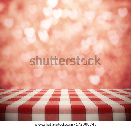 Dinner Table Background dining table on hearts bokeh background stock photo 172380743