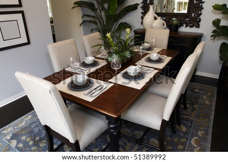 Modern dining table decor