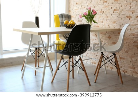 Dining table with set of chairs. #399912775