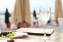dinner on terrace in cafe
