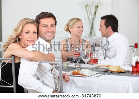 Dinner party - stock photo