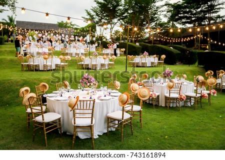 dinner set up Stockfoto ©