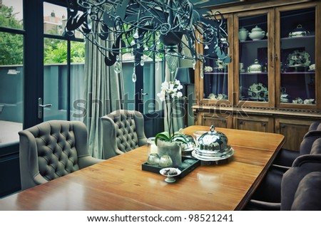 dinner table in home hotel
