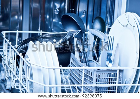 Dinnerware  inside  dishwasher