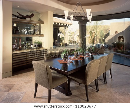 Dinning Room Home Interior. Architecture Stock Images, Photos of Living room, Dining Room, Bathroom, Kitchen, Bed room, Office, Interior photography.
