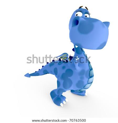 dino baby blue dragon asking around