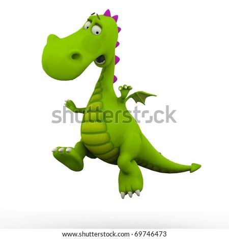 dino baby dragon jumping