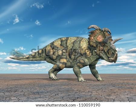 Dinosaur Albertaceratops Computer generated 3D illustration