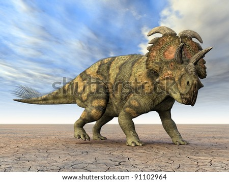 Dinosaur Albertaceratops Computer generated 3D illustration
