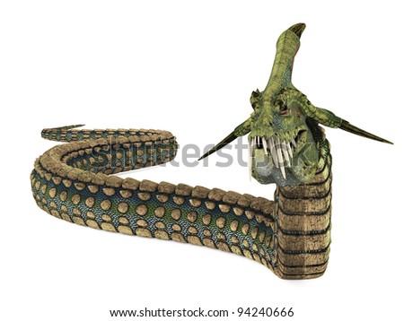 dinosaur anaconda walking arround
