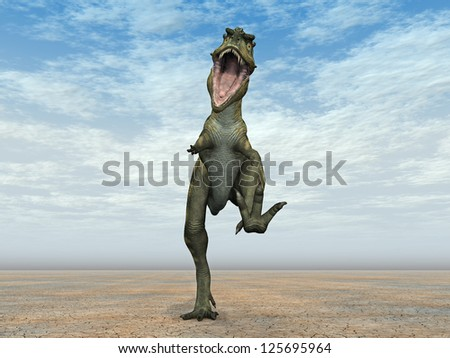 Dinosaur Bistahieversor Computer generated 3D illustration - stock photo