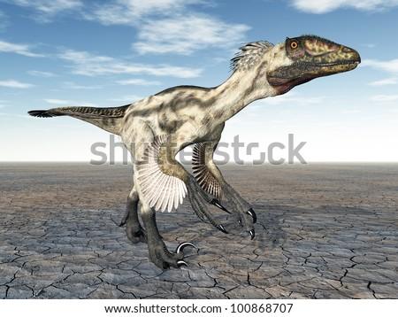 Dinosaur Deinonychus Computer generated 3D illustration