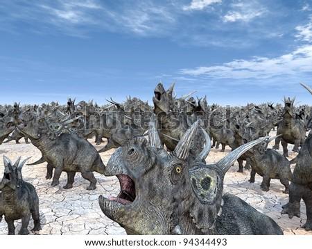 Dinosaur Diabloceratops Computer generated 3D illustration