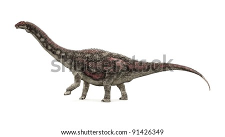 Dinosaur Diamantinasaurus Computer generated 3D illustration