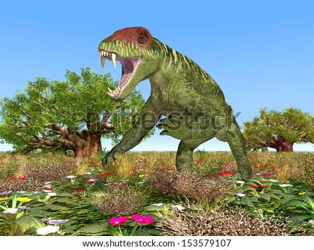 Dinosaur Doliosauriscus Computer generated 3D illustration