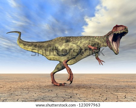 Dinosaur Giganotosaurus Computer generated 3D illustration