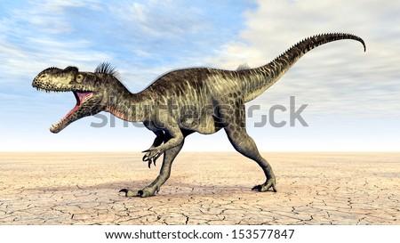 Dinosaur Megalosaurus Computer generated 3D illustration