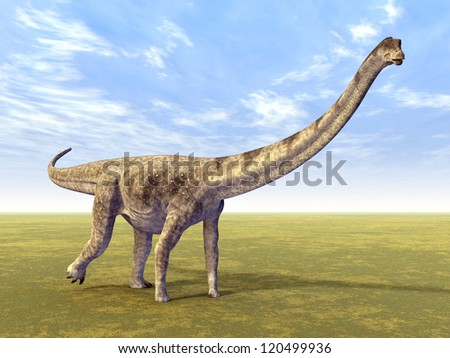 Dinosaur Puertasaurus Computer generated 3D illustration