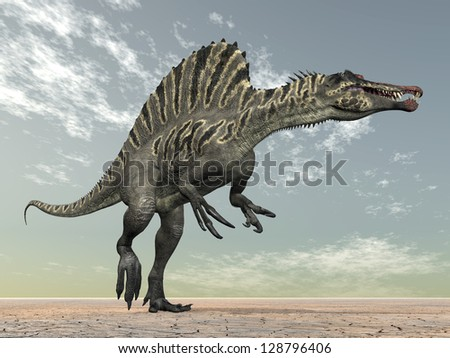 Dinosaur Spinosaurus Computer generated 3D illustration - stock photo