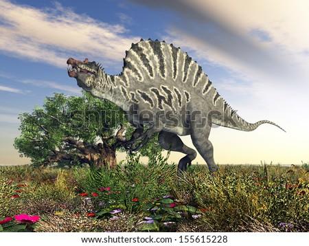 Dinosaur Spinosaurus Computer generated 3D illustration