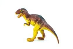 dinosaur toy on isolated on white