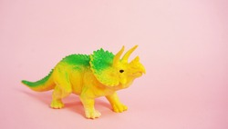 dinosaur toy on isolation background