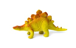 Dinosaur toy on white