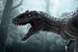 Dinosaur, Tyrannosaurus Rex in the jungle