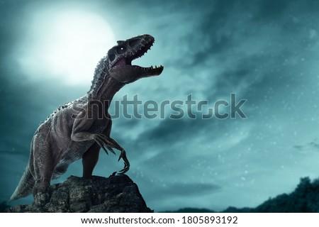 Dinosaur, Tyrannosaurus Rex in the jungle Stock foto ©